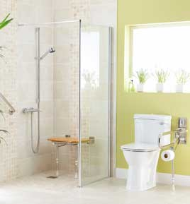 adapting shower for access
